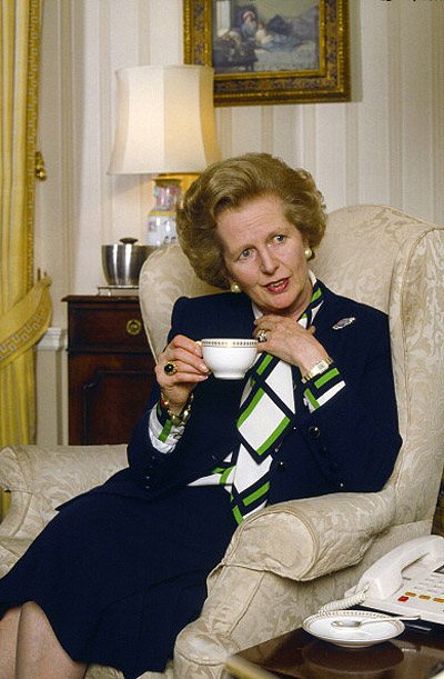 PM Margaret Thatcher at 10 Downing Street